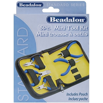 Beadalon® 5 Piece Mini Tool Kit With Zip Pouch