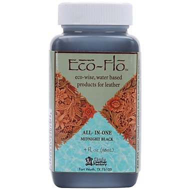 Leather Factory® Eco-Flo™ All-In-One Stain and Finish, Midnight Black