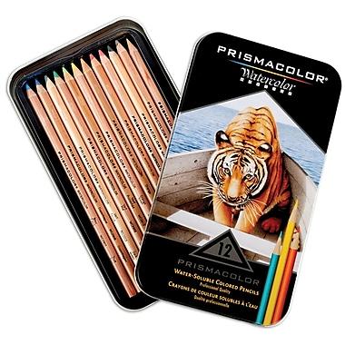 Prismacolor Watercolor Pencils, Assorted, 12/Pack (4064HT)