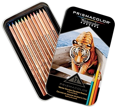 Prismacolor Watercolor Pencils, Assorted, 12/Pack (4064HT)