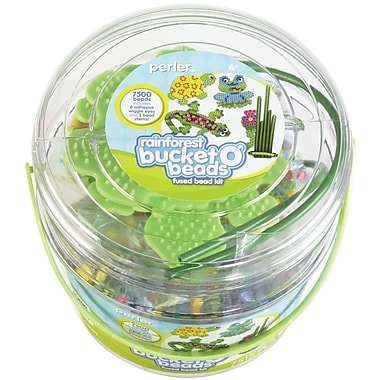 Perler® Rainforest Fun Fusion Fuse Bead Activity Bucket Kit