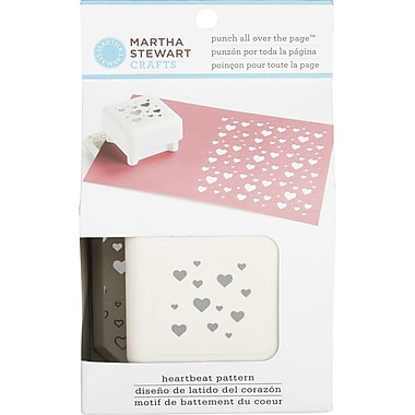 Martha Stewart Crafts® All Over the Page Punch, Heartbeat, 1 1/2