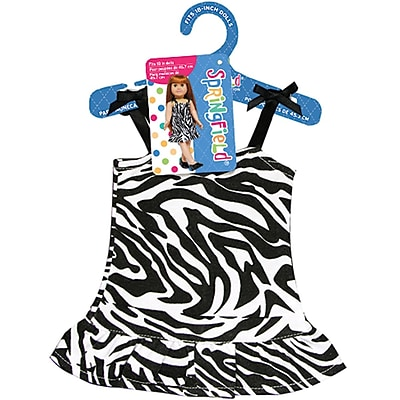 Fibre Craft® Springfield Collection® Zebra Dress For 18