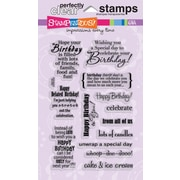 "Stampendous® 4"" x 6"" Perfectly Clear Stamp, Birthday Assortment"