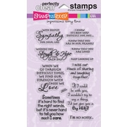 "Stampendous® 4"" x 6"" Perfectly Clear Stamp, Sincere Sentiments"