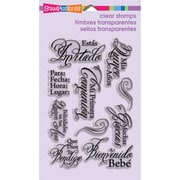 "Stampendous® 4"" x 6"" Perfectly Clear Stamp, Spanish Invite"