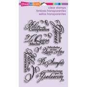 "Stampendous® 4"" x 6"" Perfectly Clear Stamp, Spanish Greetings"