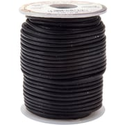 Tandy Leather Factory 5050-01 Black Spool Round Leather Lace, 25 yd.