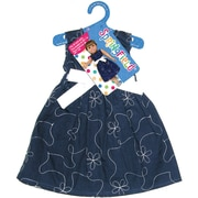 "Fibre Craft® Springfield Collection® Party Dress For 18"" Dolls, Navy Blue/White"