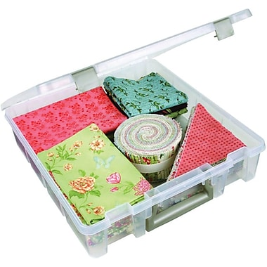 ArtBin® Super Satchel™ 1 Compartment Box, Translucent Clear