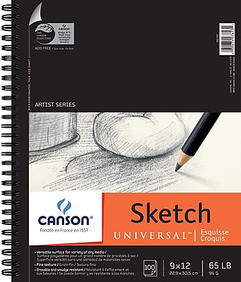 Pro Art Canson Universal Spiral Sketch Book, 9