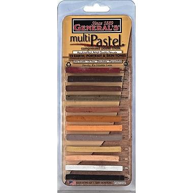 General Pencil 12 Piece Multi Pastel Compressed Chalk Sticks