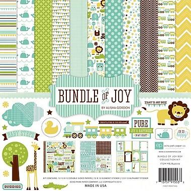 Echo Park Paper Bundle Of Joy Boy Collection Kit, 12