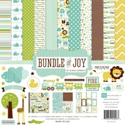 "Echo Park Paper Bundle Of Joy Boy Collection Kit, 12"" x 12"""