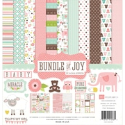 "Echo Park Paper Bundle Of Joy Girl Collection Kit, 12"" x 12"""