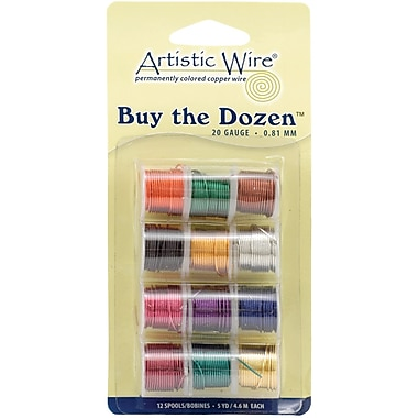 Beadalon BTD-20 Assorted 20 Gauge Artistic Wire, 3 yd., 12/pack