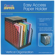 Advantus Cropper Hopper® Easy Access Paper Holder, Black