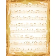 "Justrite® Stampers 4 1/2"" x 5 3/4"" Cling Background Stamp, Shabby Music"