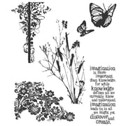 "Stampers Anonymous Tim Holtz 7"" x 8 1/2"" Cling Stamp Set, Nature's Discovery"