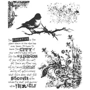 """Stampers Anonymous Tim Holtz 7"""" x 8 1/2"""" Cling Stamp Set, Urban Tapestry"""