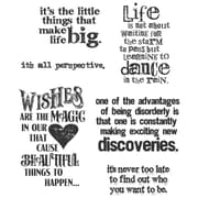 "Stampers Anonymous Tim Holtz 7"" x 8 1/2"" Cling Stamp Set, Good Thoughts"