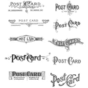 "Stampers Anonymous Tim Holtz 7"" x 8 1/2"" Cling Stamp Set, Postcards"