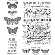 "Stampers Anonymous Tim Holtz 7"" x 8 1/2"" Cling Stamp Set, Papillon"