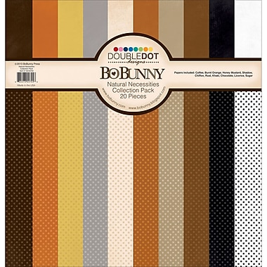 Bo Bunny Natural Necessities Double Dot Cardstock Collection Pack, 12