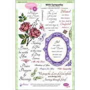 "Justrite® Stampers 6"" x 8"" Clear Stamp Set, With Sympathy"