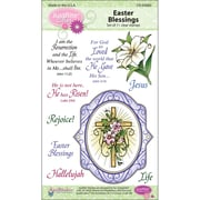 "Justrite® Stampers 6"" x 4"" Clear Stamp Set, Easter Blessings Oval Medallions"