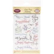 "Justrite® Stampers 6"" x 4"" Clear Stamp Set, Large Fancy Sentiments"