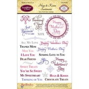 "Justrite® Stampers 6"" x 4"" Clear Stamp Set, Hugs & Kisses"