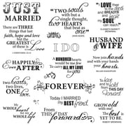 """Fiskars® 8"""" x 8"""" Quote Clear Stamp, Just Married"""