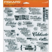 "Fiskars® 8"" x 8"" Quote Clear Stamp, Make A Wish"