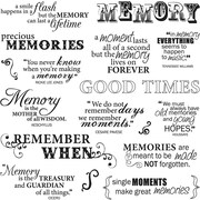 """Fiskars® 8"""" x 8"""" Quote Clear Stamp, Good Times"""