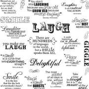 """Fiskars® 8"""" x 8"""" Quote Clear Stamp, Laugh With Me"""
