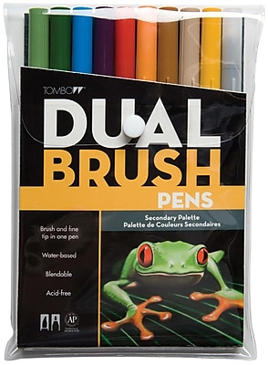 Tombow® 10 Piece Secondary Dual Brush Marker