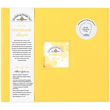 Doodlebug Storybook Album With Window, 12