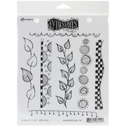 "Ranger 7"" x 8 1/2"" Dyan Reaveley's Dylusions Cling Stamp, Around The Edge"