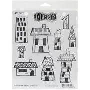 """Ranger 7"""" x 8 1/2"""" Dyan Reaveley's Dylusions Cling Stamp, Right Up Your Street"""