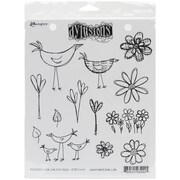 "Ranger 7"" x 8 1/2"" Dyan Reaveley's Dylusions Cling Stamp, How Does Your Garden Grow"