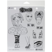 """Ranger 7"""" x 8 1/2"""" Dyan Reaveley's Dylusions Cling Stamp, Curious Corrin"""