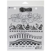 "Ranger 7"" x 8 1/2"" Dyan Reaveley's Dylusions Cling Stamp, Further Around The Edge"