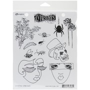 "Ranger 7"" x 8 1/2"" Dyan Reaveley's Dylusions Cling Stamp, Bits Of This"