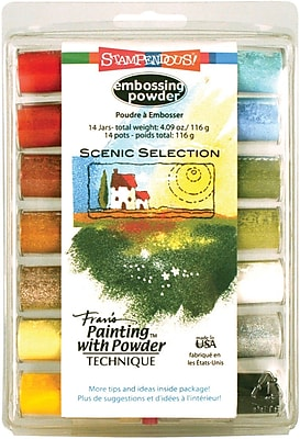Stampendous® 4.09 oz. Scenic Selection Embossing Powder, Multi Color, 14/Pack