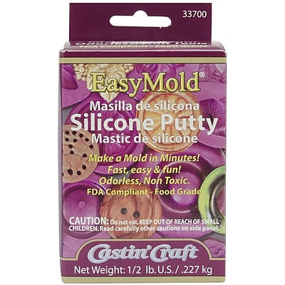 Environmental Easy Mold Silicone Putty Kit, 1/2 Pound