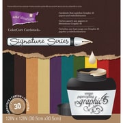 "Darice® Signature Series Graphic 45 Darks Cardstock Pad, 12"" x 12"", 30/Pack"