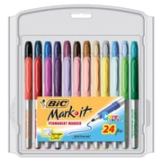 BIC Mark-It Fine Point Permanent Marker, Assorted, 24/Pack