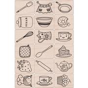 """Hero Arts® 3"""" x 4"""" Ink 'n Stamp Tub, Cook It"""