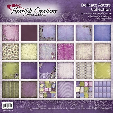 Heartfelt Creations® Delicate Asters Double Sided Paper, 12